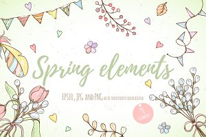 Spring elements design set