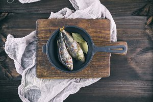 fresh fish perch with spices