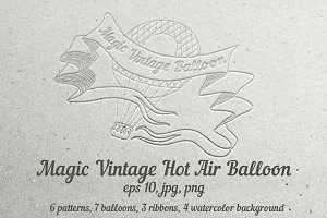 Magic Vintage Hot Air Balloon