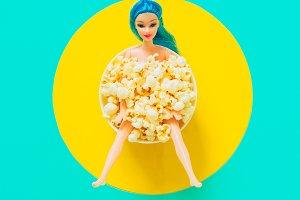 Doll in Popcorn