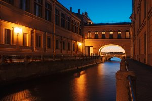 Evening Saint-Petersburg, Russia