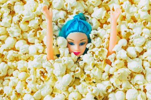 Doll's Head in Popcorn