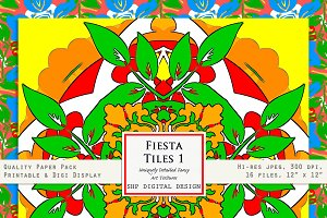 Fiesta Tiles 1:  bright & festive