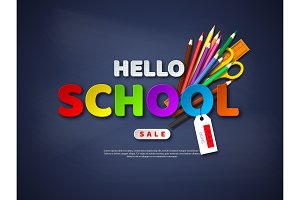 Hello school sale poster.