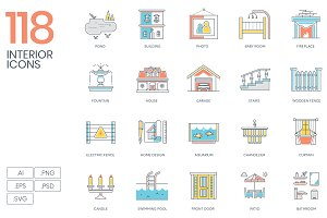 Interior Design & Furniture Icons
