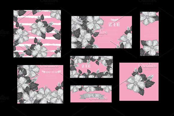 Hibiscus Floral Cards