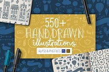 550+ Hand Drawn Illustrations by Alex Traian Munteanu in Illustrations