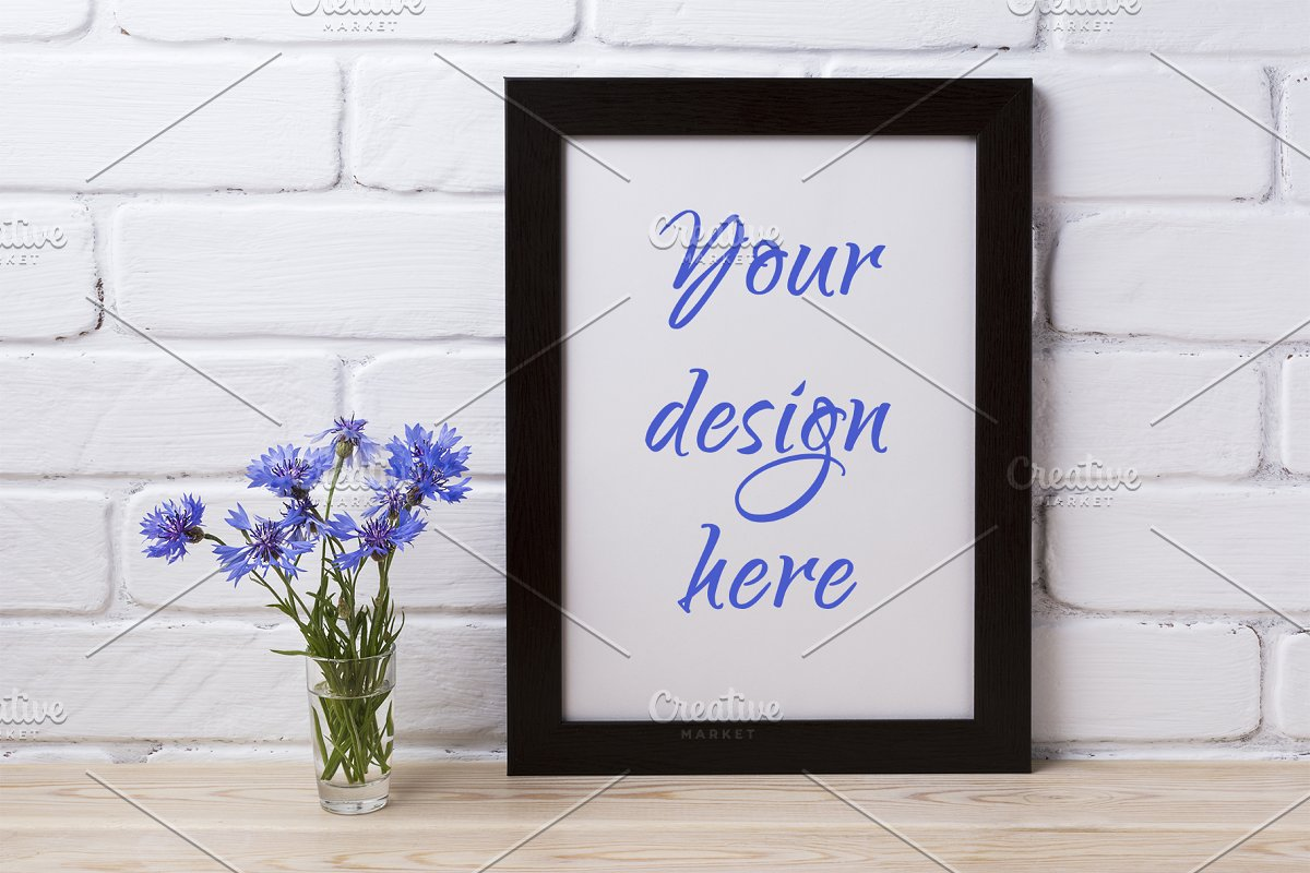 Black brown poster frame mockup with in Print Mockups - product preview 8