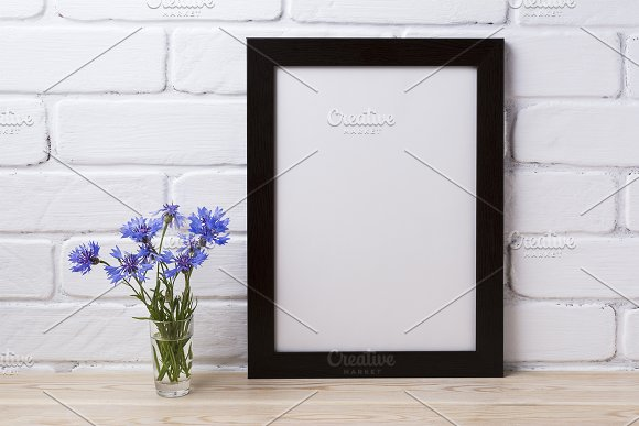 Black brown poster frame mockup with in Print Mockups - product preview 1