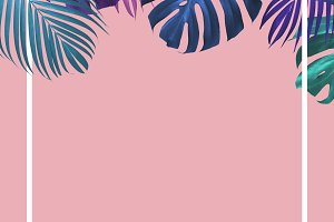 Tropical leaves minimal summer