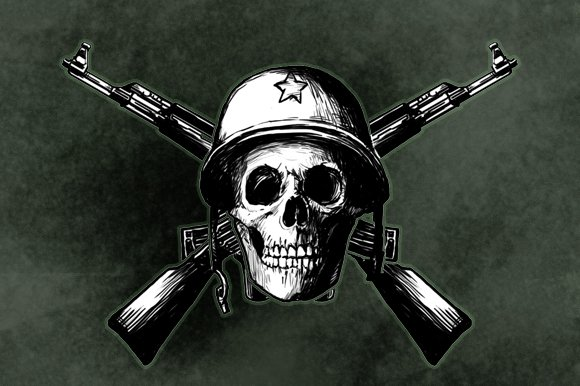 skull army pre designed illustrator graphics creative market skull army