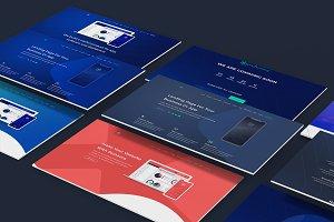 Amazing app landing page PSD