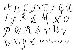 Hand drawn monograms set