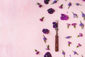 Purple edible flowers
