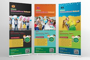 School Education Roll-Up Banner Sign