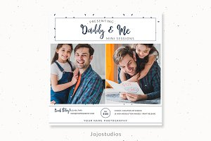 Daddy and me mini session template