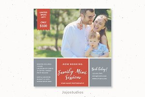 Family mini session template