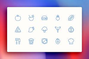 Food & Restaurant Icon Kit