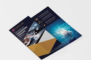 Trifold IT Technology Flyer Template