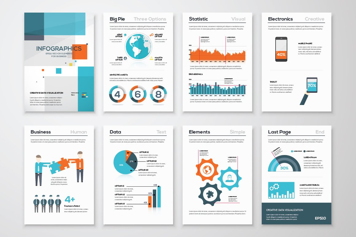 Infographic Brochure Elements Illustrations Creative Market - Infographic brochure template