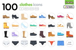 100 Clothes Icons - Jolly