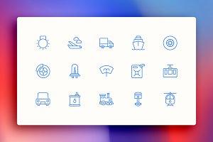 Transport & Automobile Icon Kit