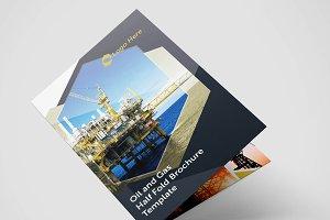 Half Fold Oil Gas Brochure Template