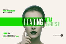 Heading Pro Ultra Compressed 70%off! by Francesco Canovaro in Fonts
