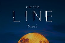 Circle Line Font