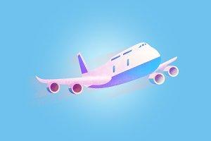 Air plane grained vecto illustration
