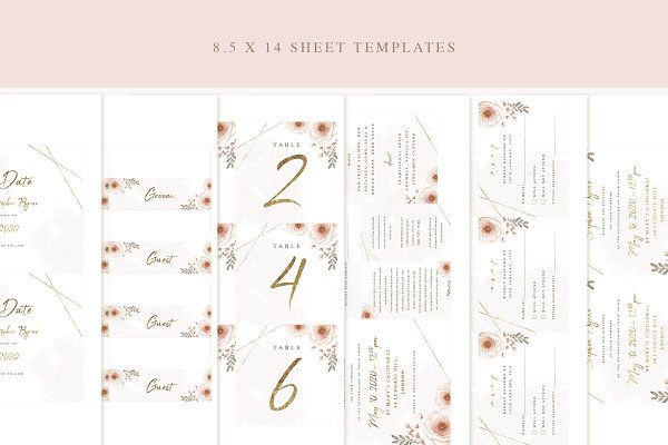 Templates: LW Brand Styling - Whimsical Wedding Invitation Suite