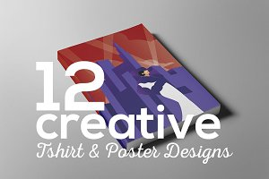 Creative poster t-shirt designs
