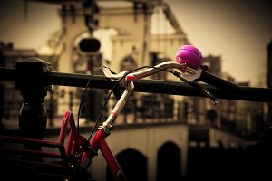 Bike close up on the Magere Brug