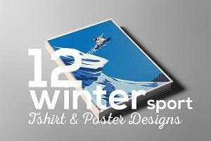 Winter Sport Poster T-shirt Set
