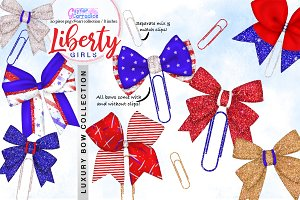 4th July Bows Clipart Collection