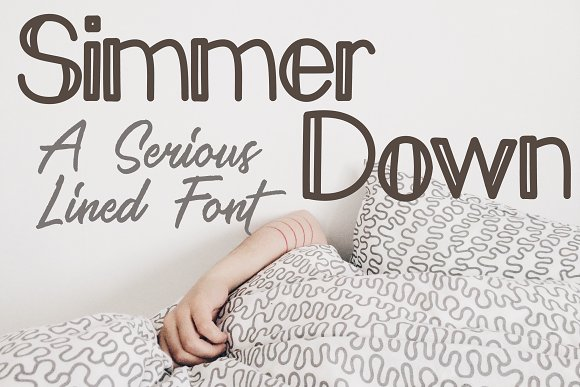 Simmer Down Font Sans Serif TTF OTF
