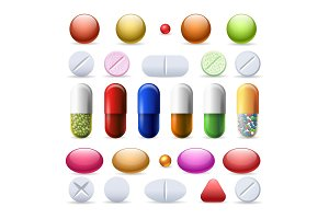 Pill and tablets set