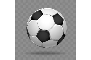 Soccer ball isolated on transparent background