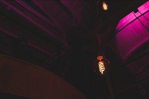 Tesla/Edison light bulb hanging