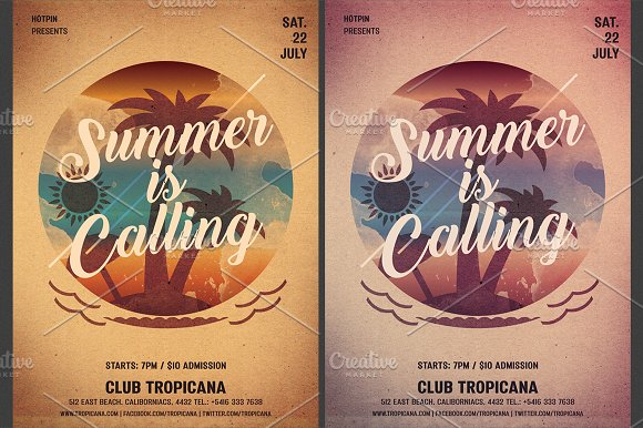 summer party flyer template flyer templates creative market