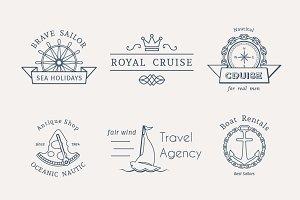 6 Retro Nautical Logo Templates ~ Logo Templates