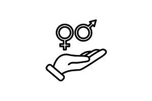 icon. Gender symbol men and women