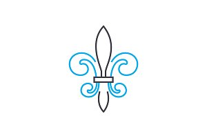 Architectural ornament linear icon concept. Architectural ornament line vector sign, symbol, illustration.