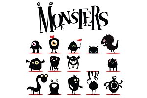 Vector monsters bundle