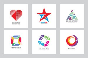 Abstract Shape Business Logo Set