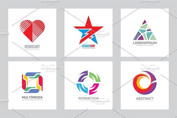 Abstract Shape Business Logo Set