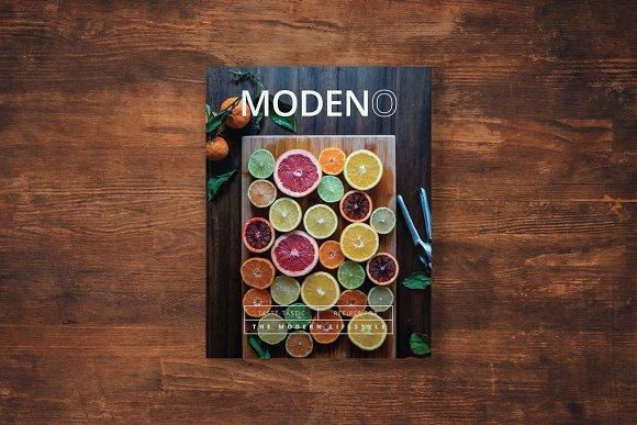 Modeno A Modern Cookbook Template