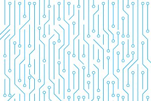 Circuit board on white background. High-tech technology background texture. Pattern abstract illustration.