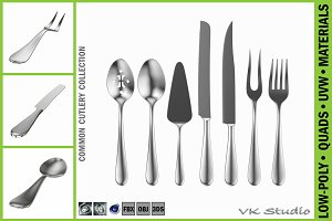 Common Cutlery Serving Set 7 Pieces