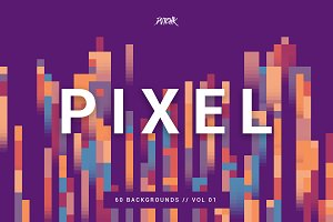 Pixel | Colorful Backgrounds | V. 01